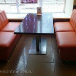 Фото ремонта мебели в кафе Оранж