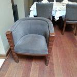 Фото перетяжки мебели в ресторане (г.Королев)