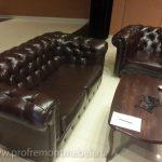 Перетяжка комплекта мебели Честер