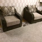 Пример перетяжки подлокотников кресла