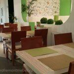 Пример обивки диванов в БИО-кафе Фитнесмания