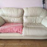 Замена обивки подушек дивана
