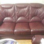 Частичный ремонт кожаной мебели