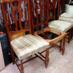 Фото замены обивки стульев
