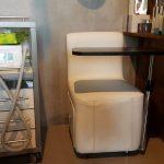 Фото замены обивки кресла в салоне красоты