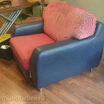 Пример перетяжки дивана и кресла