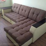Пример работы по перетяжке дивана