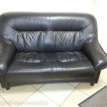 Примеры перетяжки кожаных диванов