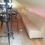 Ремонт мягкой мебели в кафе на Третьяковке